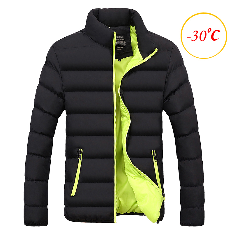 Winter Jacket Men Clothes 2019 Solid Colors Ultra-light Parka Mens Jackets And Coats Stand Collar Bubble Coat Puffer Jackets