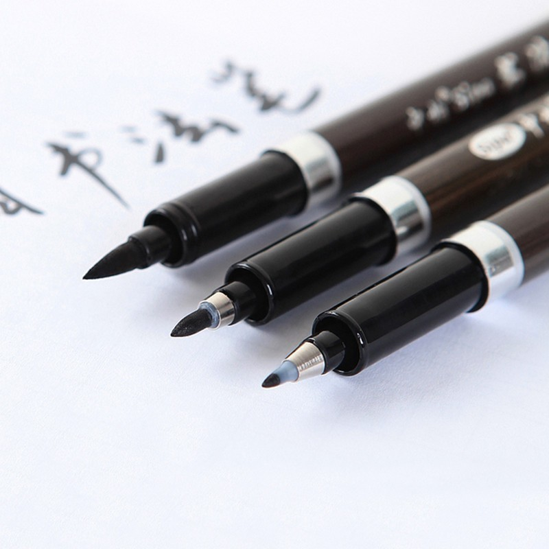 1 Set 3 Size Japan School Art Supplies Markers Brush Pen Fineliner Permanent Marker Whiteboard Marker Sharpie 04315