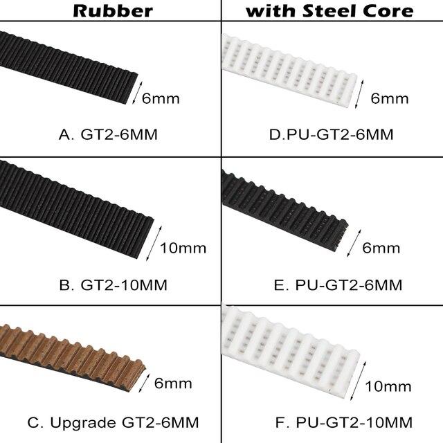 1 м резиновая/полиуретан со стальным сердечником Gt2 ремень GT2 Ремень ГРМ 6 мм/10 мм Ширина для 3d принтера