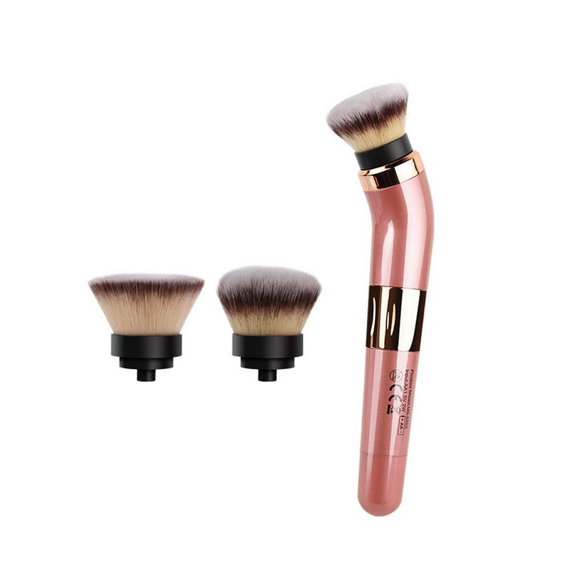 Electric Makeup Brush With 360 Degree Rotating USB Rechargeable Automatic Smart Cosmetics Blushes Kit With 2 Make-up Head Electric Makeup Brush With 360 Degree Rotating USB Rechargeable Automatic Smart Cosmetics Blushes Kit With 2 Make-up Head