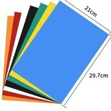 A4 Размер 0,5 мм самоклеющиеся гибкие резиновые магнитные листы толщина фото/автомобиль/Выставка/Ad резиновый магнит 297x210