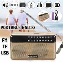 Mini Portable radio stereo bluetooth speaker FM Radio Portable Speaker Radio USB SD TF Card MP3 Player Sound(China)