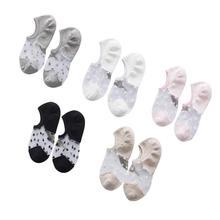 10 Pairs Of Glass Stocks Japanese Crystal Transparent Short Tube Socks Summer Thin Section Super Invisible Women Socks