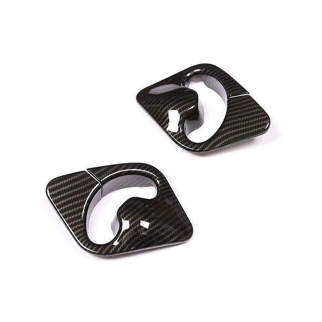 Per BMW X5 X6 F15 F16 2014 2015 2016 2017 2018 2pcs ABS Struttura In Fibra di Carbonio Sedile Anteriore di Sicurezza copertura Della cinghia