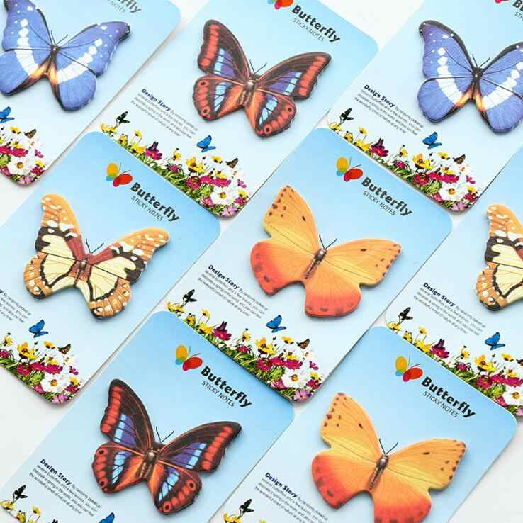 1 stück Ellen Brook Koreanische Nette Schmetterling Haftnotizen Kreative Schreibwaren Post Notizblock Filofax Memo Pad Büro Schule Liefert