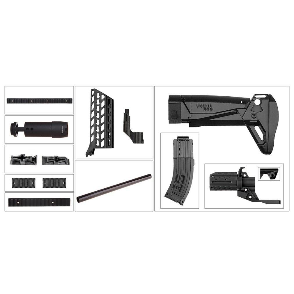 Worker STF-W024 AK Alfa Style Mod Kits Set With Black Adaptor for Nerf N-Strike Elite Stryfe Blaster Toy Gun AccessoriesWorker STF-W024 AK Alfa Style Mod Kits Set With Black Adaptor for Nerf N-Strike Elite Stryfe Blaster Toy Gun Accessories