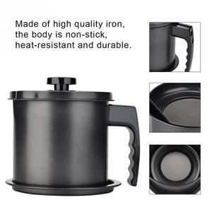 Image 5 - 1.3L נירוסטה בקבוק שמן בישול שמן Dispenser מיכל סיר בקבוקי ספריי מסננת מטבח תיבול אחסון טנק