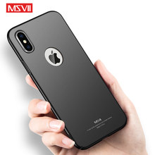 Msvii Gevallen Voor Iphone X Case Cover Silm Frosted Coque Voor Apple Iphone Xs Max Case Hard Telefoon Cover Voor iphone Xs Xr IPhone10(China)