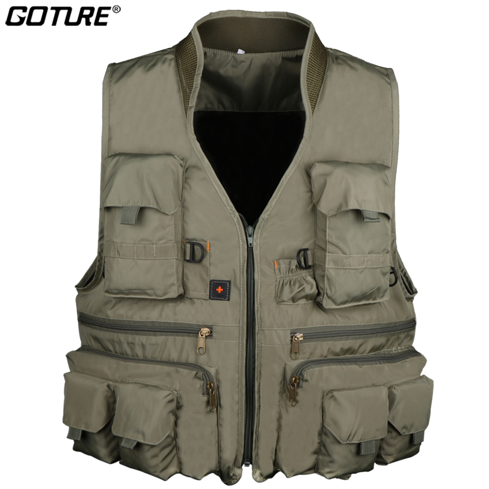 Goture Fly Fishing Vest for Men L XL XXL Swiming Hiking Fishing Jacket Waistcoat Survival Utility Vest All for Fishing TacklesGoture Fly Fishing Vest for Men L XL XXL Swiming Hiking Fishing Jacket Waistcoat Survival Utility Vest All for Fishing Tackles