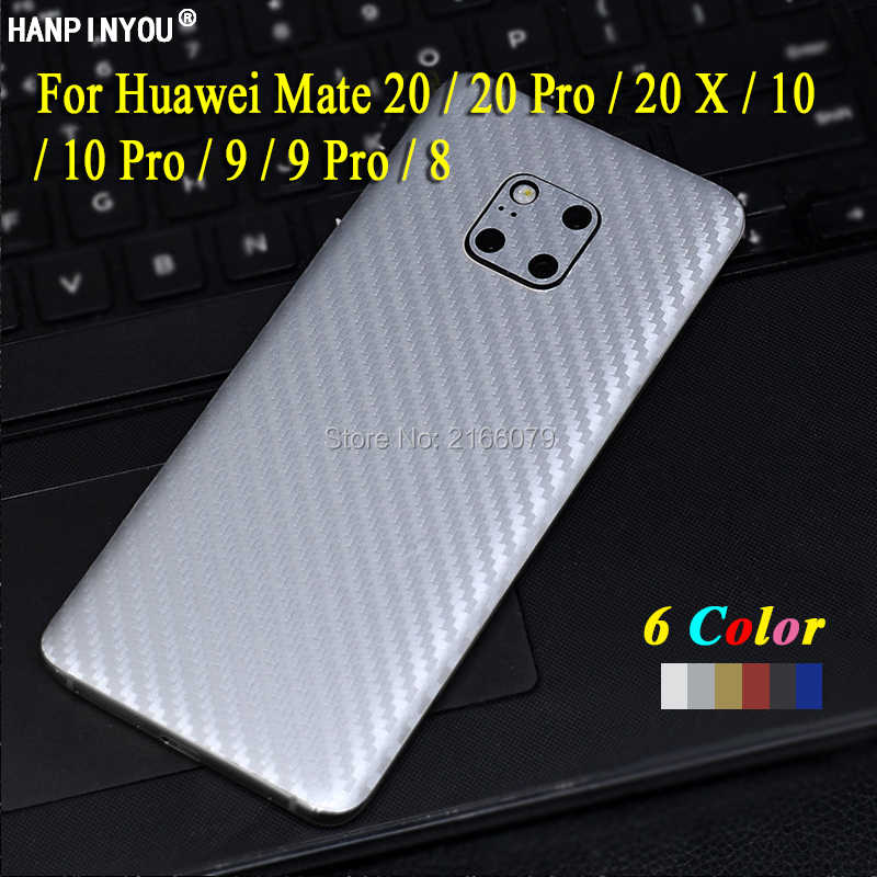 For Huawei Mate 20 X 10 9 Pro 8 New Full Cover Back Decal Skin 3D Carbon Fiber Phone Protective Sticker Film
