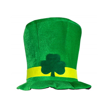Irlandés Shamrock sombrero de copa de terciopelo verde sombrero St.  Patricks día traje de fiesta sombrero de duende 1e624a621fd