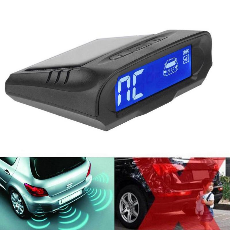 Energia słoneczna bezprzewodowa LCD Parking samochodowy zestaw czujników Auto cofania Backup radiolokacja systemu pomocy z 4 czujnikami