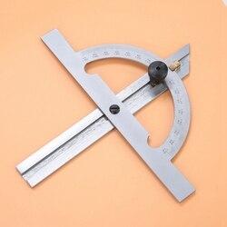 100x150mm aço carbono ajustável transferidor ângulo régua ferramenta de medição & ferramenta medição al109 ângulo medida ferramenta