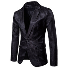 Men Black White Blazer Jacket Brand Casual Slim Fit Business Formal Blazer Suit Male Plus Size Cotton Wedding Costume Homme