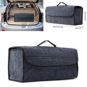 UK Grey Large Anti-Slip Car Trunk Boot Storage Organiser Case Tool Travel Bag(China)