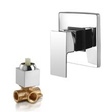 SKOWLL วาล์วผสมก๊อกน้ำทองเหลืองห้องน้ำร้อนเย็น Bath วาล์วผสมติดผนัง Water Tap torneira chuveiro