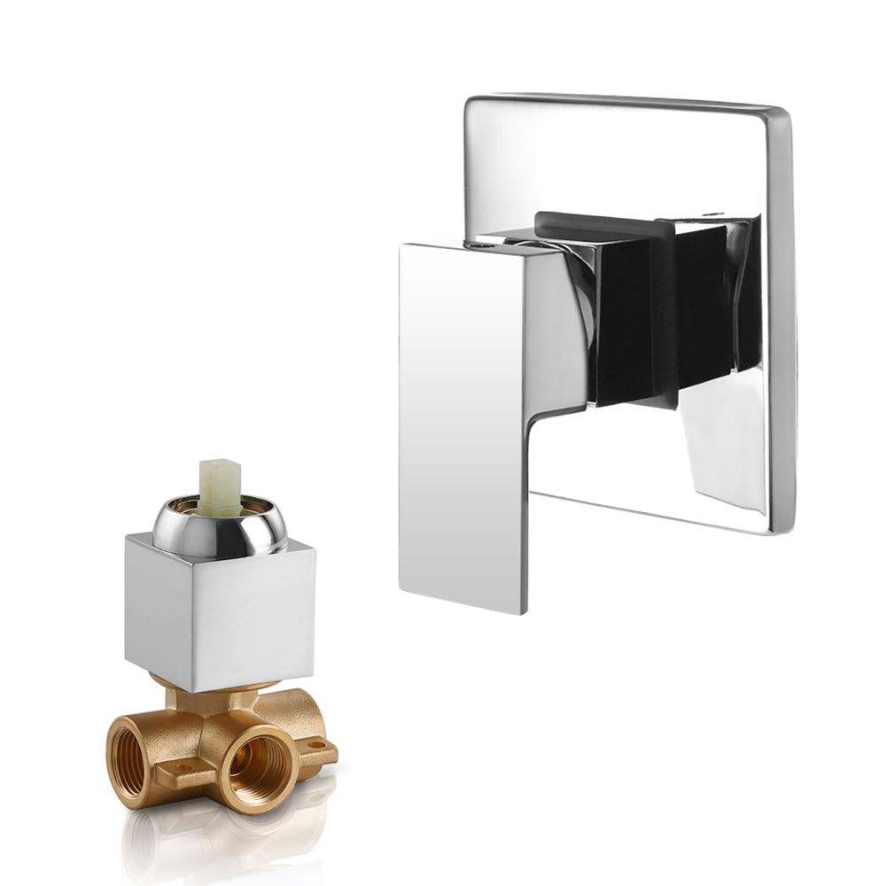 SKOWLL Válvula Misturador Do Chuveiro Chuveiro Torneira Do Banheiro de Bronze Válvula Misturadora Banheira Montado Na Parede Torneira de Água Quente Frio torneira chuveiro