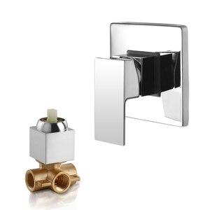 Image 1 - Sowll bateria natryskowa zawór prysznic kran mosiądz łazienka zawór ciepłej zimnej kąpieli zawór ścienny wody z kranu torneira chuveiro