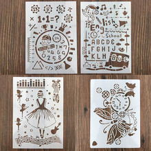 DIY Craft Hollow Art Painting Stencils Drawing Template Reusable Embossing Paper Cards Tool Wall Scrapbooking Graffiti Hand Copy