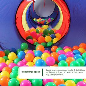Image 5 - 4 adet bebek tarama tünel çadır evi çocuk kapalı açık oyun dalga okyanus top havuzu Pit oyuncak katlanabilir çocuk oyun çadırları oyun evi