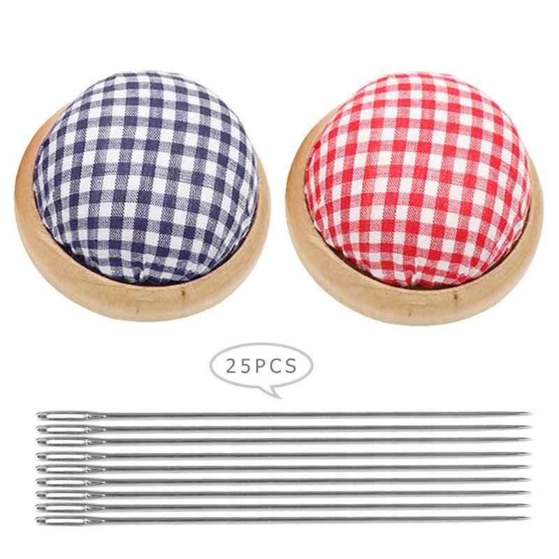 Швейный комплект игл Подушечка для булавок с 25 шт набор иголок для шитья DIY инструмент для рукоделия для вышивки крестом вышивальные инструменты