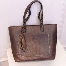Большие сумки Топ-ручка Для женщин сумка кожаная сумочка Женская Новая мода кисточкой Sac основной женский большой Сумки Для женщин сумка