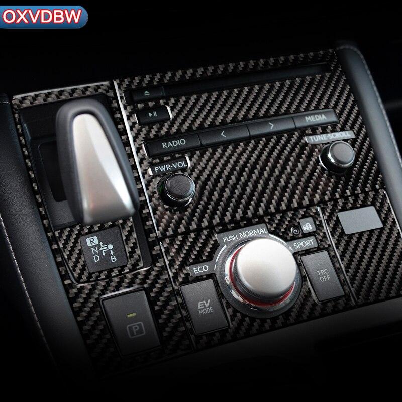 Carbon Fiber Car Interior AC CD Gear Shift Panel Decor Frame Sticker For LEXUS CT200h F-SPORT LHD RHD Accessories Styling