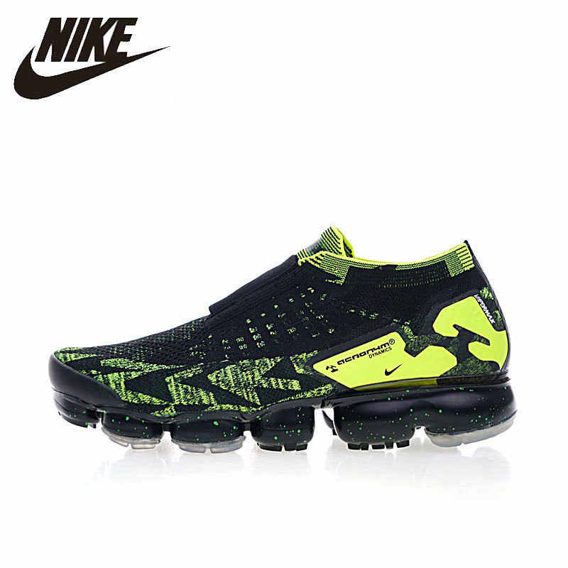 newest 02015 66bcf Nike Air VaporMax FK Moc 2 Men Running Shoes Breathable Original  Comfortable Outdoor Sports Sneakers #AQ0996-007