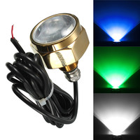 Smuxi 27W 9 LED Boat Drain Plug Light Waterproof IP68 Rate Blue Brightest 1800 Lumens Underwater Boat Lamp