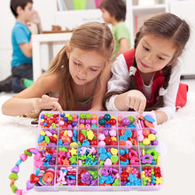 Children Creative DIY Beads Toy With Whole Accessory Set/ Kids Girls Handmade Art Craft Educational Toys For Pegboard Presents(China)