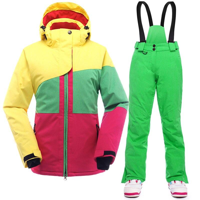 SAENSHING chaud Ski costume femmes hiver Ski veste snowboard costumes imperméable 10 K respirant neige extérieur Ski de montagne ensemble - 2