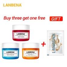 Buy 3 Get 1 Gift Lanbena Eye Cream Eye Serum Hyaluronic Acid Moisturizing Anti-wrinkle Anti Aging Ageless 3pcs + Eye Serum