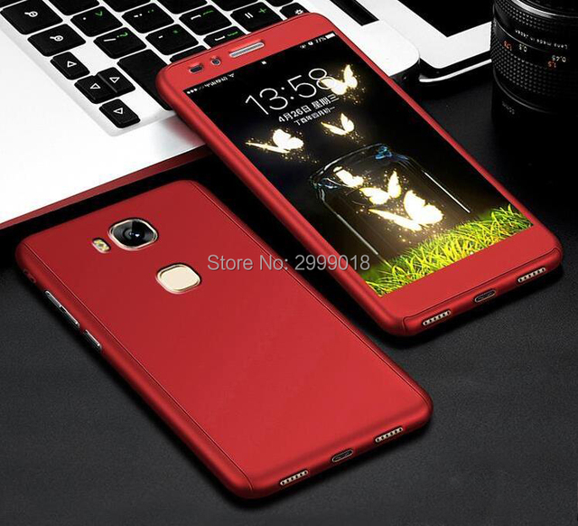 360 Full Phone Case For HUAWEI G8 G7 Plus Cover For HUAWEI G8 Case With Tempered Glass For HUAWEI G8 GX8 RIO-L02
