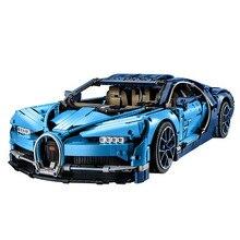 Legoings техника Bugattied Супер гоночный автомобили Chiron Playmobil строительные блоки Совместимость с legoingly детские игрушки подарки