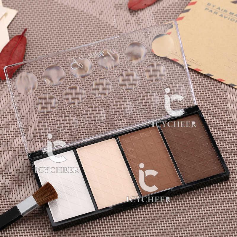 Icycheer pro maquiagem 4 cores rosto sombreamento corretivo highlighter nariz sombra bronzer branco