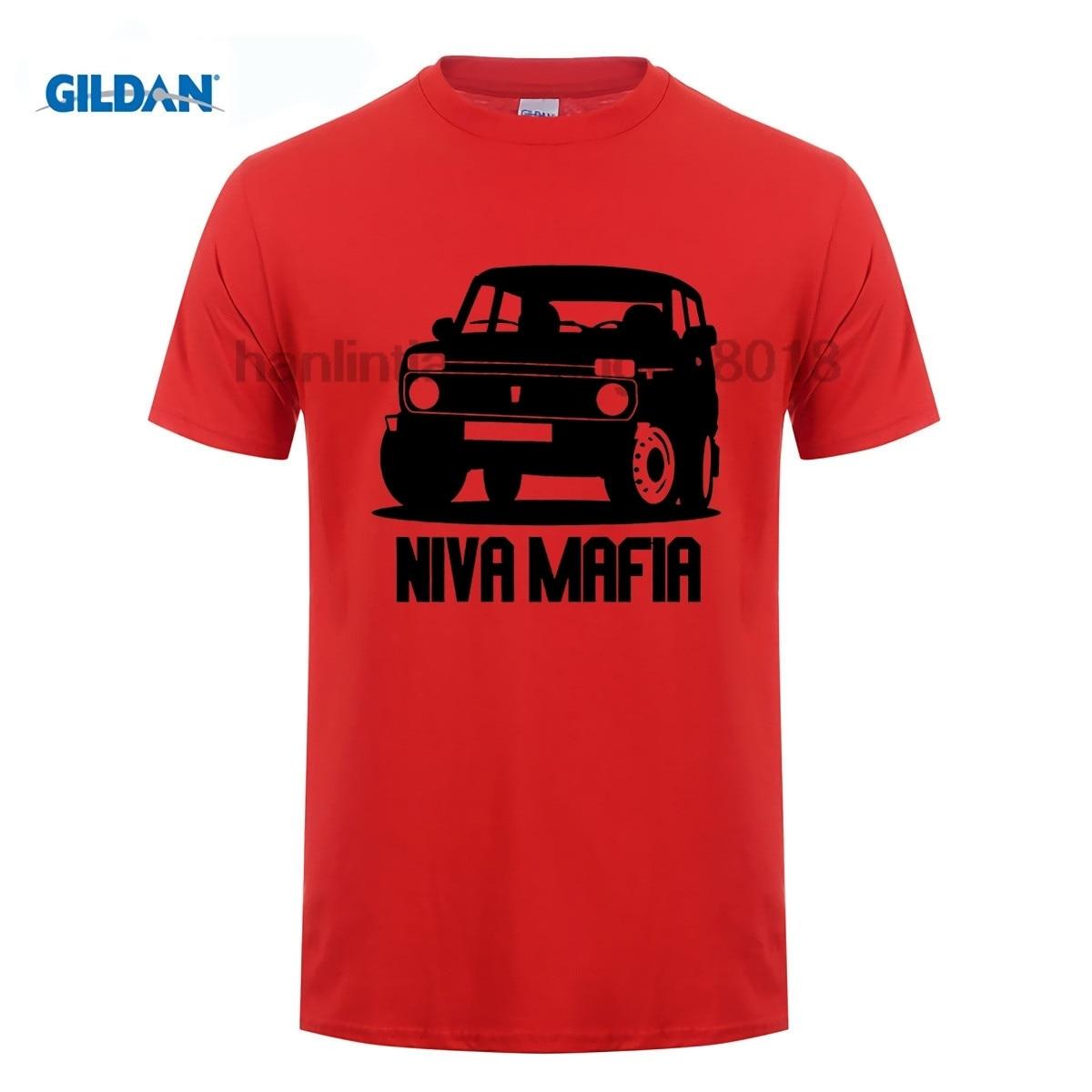 GILDAN Hot Summer Style Brand T Shirt Printing Niva Mafia Offroad Off Road Vehicle Artwork Russia Trucks Oldschool custom in T Shirts from Men 39 s Clothing