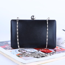 цена на Shining PU crossbody bags Evening Clutch bag Lady PU Evening Banquet bag women Handbag Clutch With Chain Shoulder Bag.