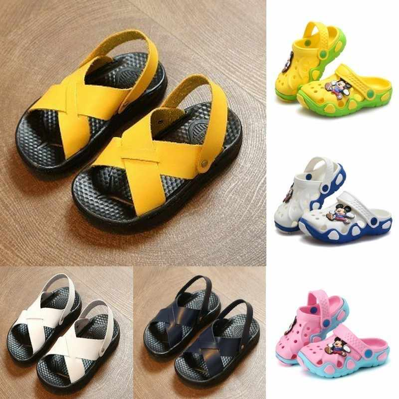 Baby Shoes 2019 Summer Hot Sale Waterproof Children Shoes New Listing Ikds Shoes Sneakers Sportswear For Boys Simple Sandals