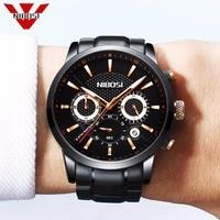 Men's Unique Luxury Business Quartz Watch Casual Fashion Classic Analog Man Wristwatch Calendar Date Waterproof NIBOSI Watches