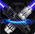 Новейший длинный самый мощный Синий Лазерный фонарь 450nm 50 Вт 500000 м  Фокусируемый фонарь  сгоревшая сигарета с 5 звездами