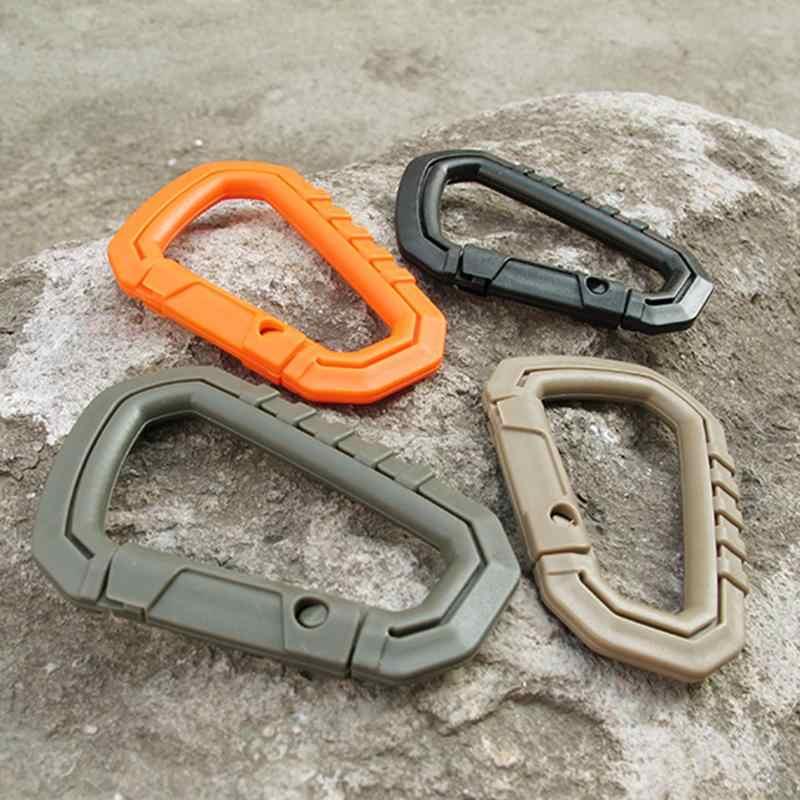 טקטי חוזק גבוהה D-טבעת מחנה הצמד קליפ וו אבזם Keychain קמפינג טיולי טיפוס הרים Carabiner