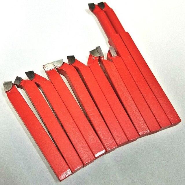 11Pcs 10X10 Mm, carbide Tip Getipt Bit Set Gesoldeerde Frees Gereedschappen Voor Metalen Cnc Draaibank, Lassen Draaien Gereedschaphouder