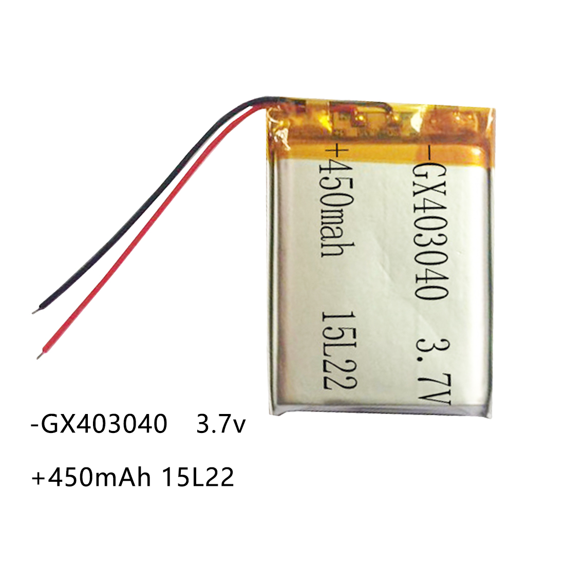 <font><b>450mAh</b></font> <font><b>3.7V</b></font> 403040 Lithium Polymer Li-Po li ion Rechargeable Battery For Tachograph Car DVR Bluetooth speaker Camera Lipo cells image