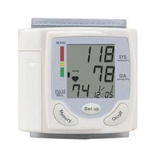 цена на New Hot 1pc Wrist Blood Pressure Monitor health monitor blood pressure measurement Sphygmomanometer Detects Blood Pressure Hea