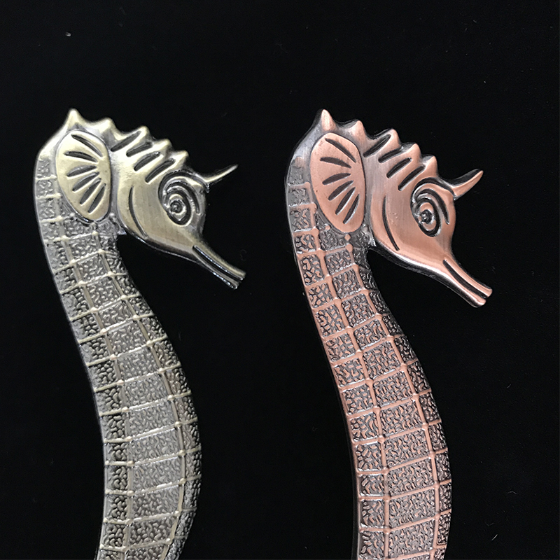 1pc 5 colour Zinc Alloy Seahorse shape handles for furniture door cabinet pull handle cupboard door knob drawer handles in Cabinet Pulls from Home Improvement