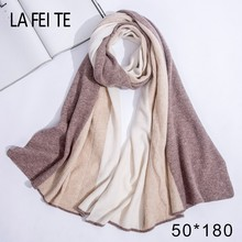 Winter Women Scarf 100% Pure Cashmere Pashmina Shawl Blanket Men Long Poncho For Ladies 2019