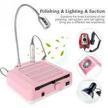 New 3 IN 1 Nail Art Equipment 30000RPM Drill Pen Dust Collector LED Light  Vacuum Cleaner Fan Manicure Tool Kit