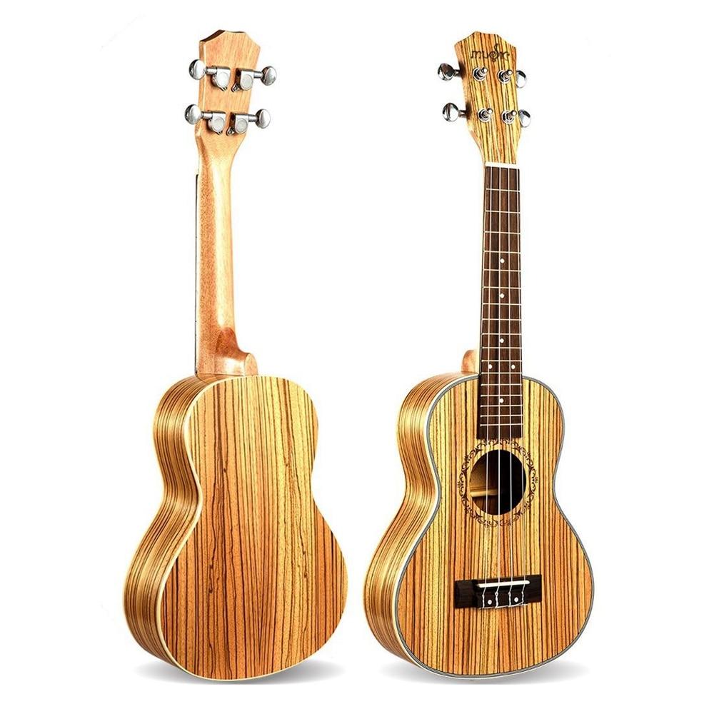 Tenor Ukulele 26 Inch 4 Strings Zebrawood Hawaiian Mini Guitar Acoustic Guitar Ukulele 18 Frets Musical Stringed Instrument