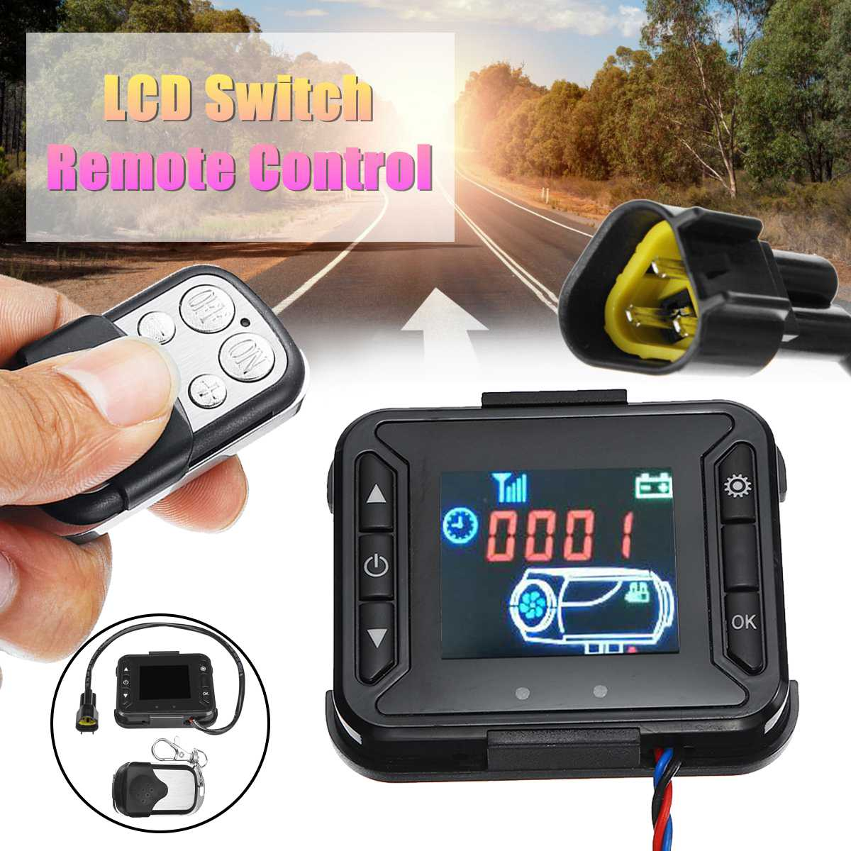 Remote Control For Car Diesel Air Heater Controller //// 12V LCD Monitor Switch