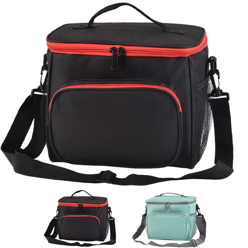 Lunch Bag Double Insulation Lunch Bag Handbag Solid Thermal Lunchbox Food Picnic Bag For Men Women Portable Cooler Tote For Kids